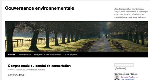 Le blog : outil de consultation législative