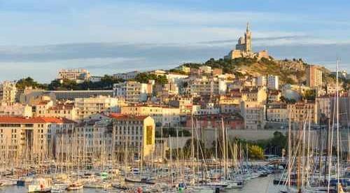 Vieux port de Marseille : flou artistique