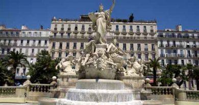 Photo d'une fontaine à Toulon