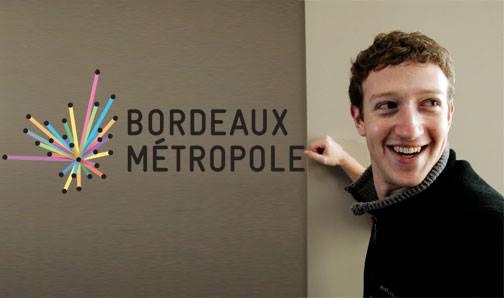 "MARK zuckerberg ""like"" Bordeaux Métropole"