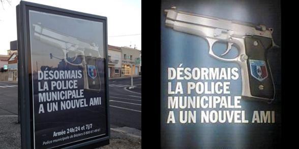 Affiches sur la police municipale à Béziers