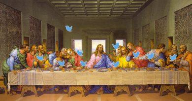 La Cène (Leonard de Vinci) qui tweete