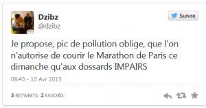Les péages urbains tweet 2