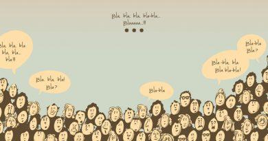"""Image représentant des personnes commentant """"blablabla"""""""
