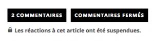 Le Journal Sud-Ouest ferme les commentaires sur les sujets sensibles. Ici la tentative de suicide Dr.Bonnemaison