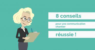 Infographie des 8 conseils pour réussir votre communication chantier