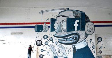 Photo représentant des graffitis sur Facebook