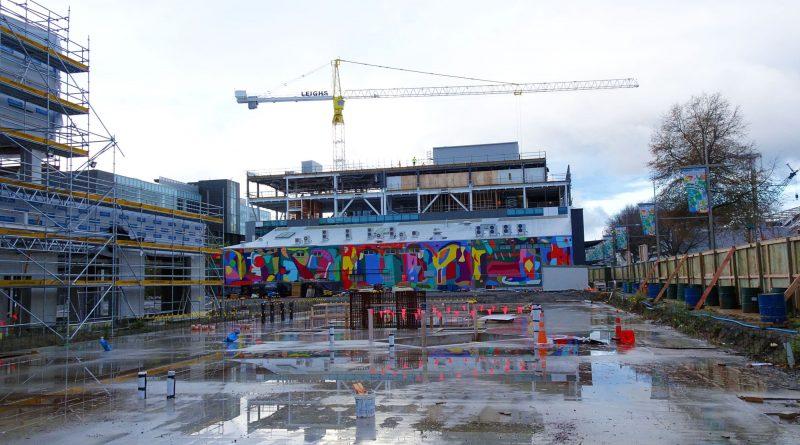 Photo représentant un chantier de construction à Christchurch