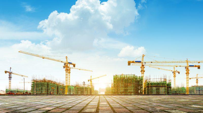 Photo représentant la construction d'un quartier