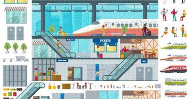 Image de synthese representant une gare