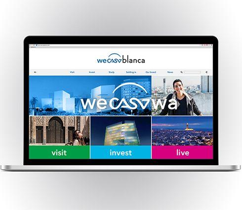 ecran d'ordinateur affichant le site de wecasablanca